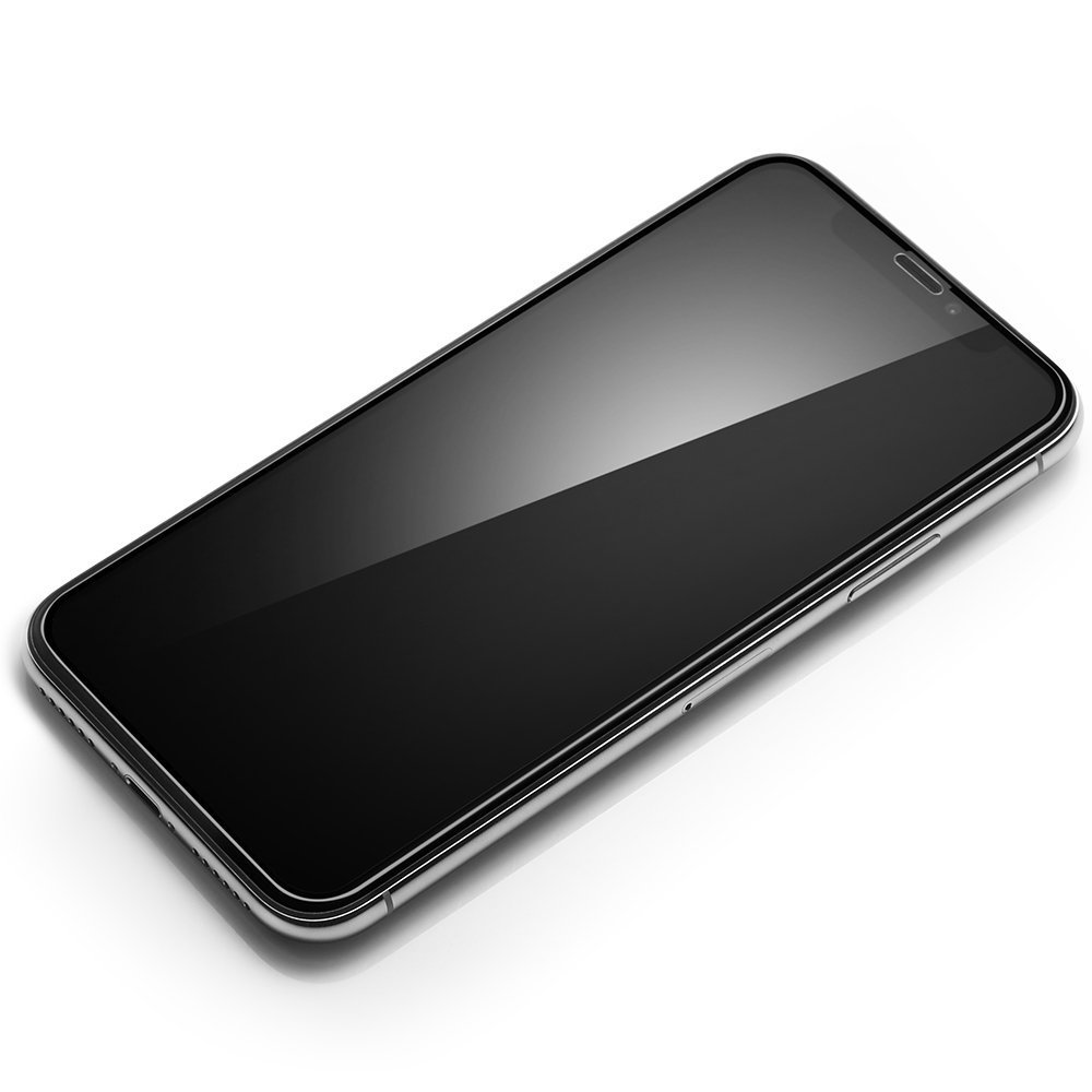 Spigen Glas Tr iPhone X / iPhone XS Screen Protector Full Cover Glass - Black