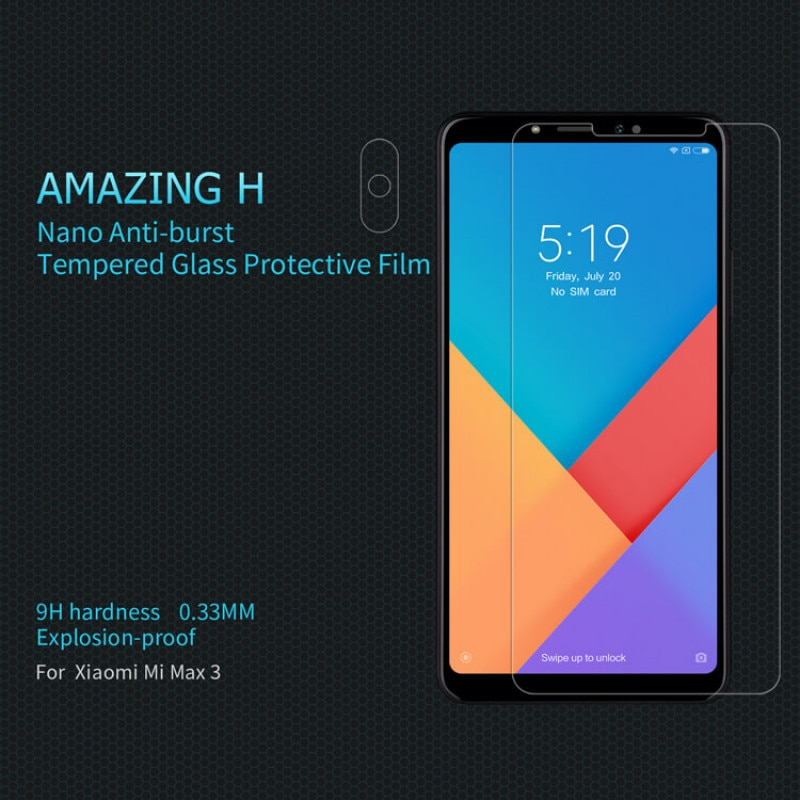 Mi Max 3 Nillkin Amazing H tempered glass screen protector - Transparent