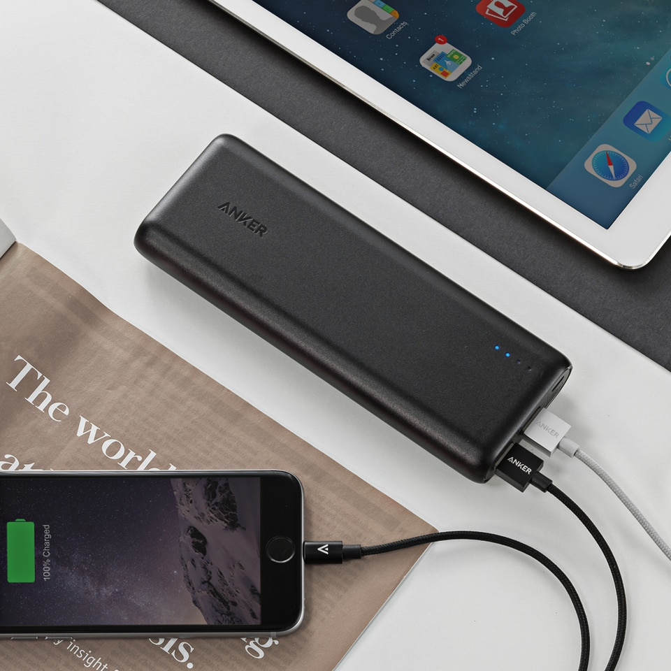Anker PowerCore 15600mAh Powerbank - Black (A1252H11)