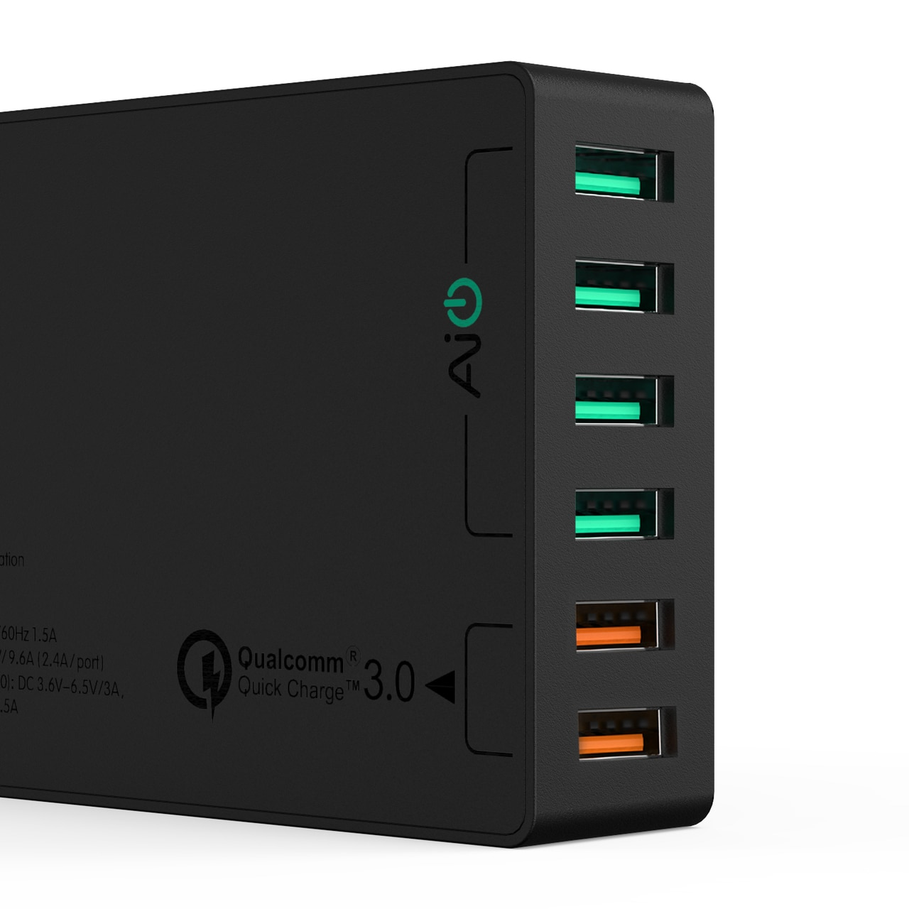 AUKEY 6 Port Desktop Charger with 2 Ports for QC 3.0 4 Ports for PowerIQ - PA-T11