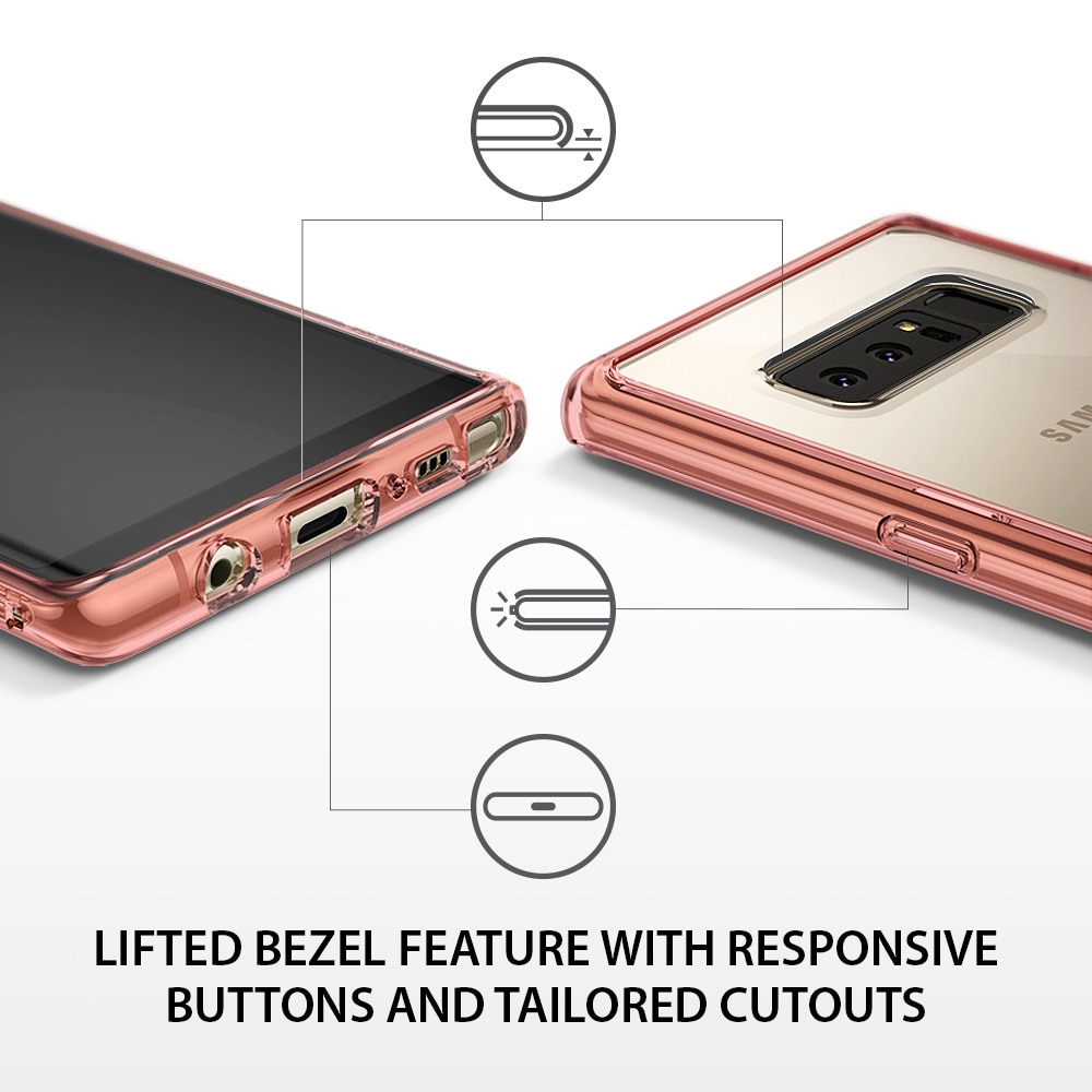 Galaxy Note 8 Ringke Fusion Hybrid Drop Protection Case - Crystal Clear