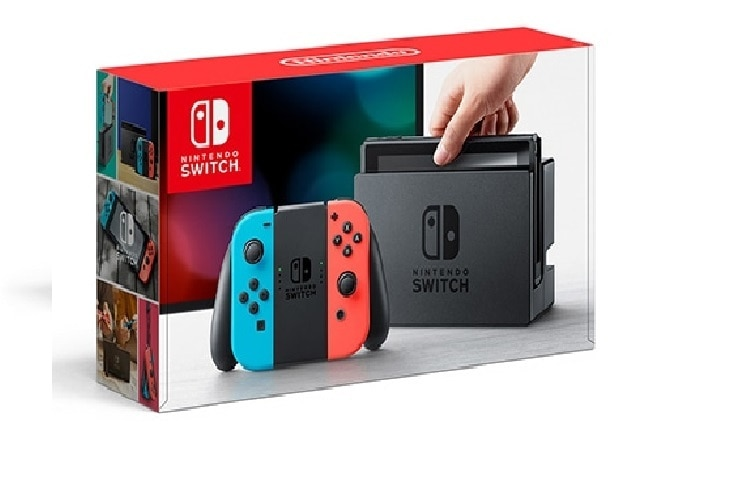 Nintendo Switch™ Console with 2 Games Neon Red & Blue